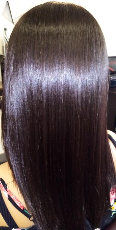 Lissage brésilien cheveux frisés